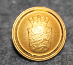 Danmarks rigsvåben, Coat of arms of Denmark, gilt, 16mm