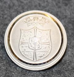 Danmarks rigsvåben, Coat of arms of Denmark, siver color, 24mm