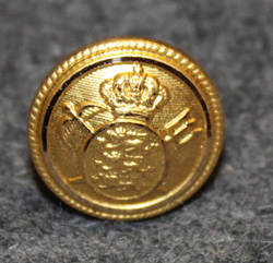 Danish Customs ( toldvæsenet ), gilt, 16mm
