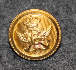 Danish marine administration, gilt, 14mm