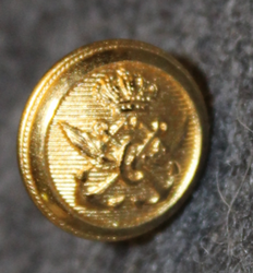 Danish marine administration, gilt, 12mm