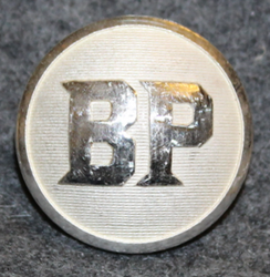 BP, British Petroleum, oil company, silver color, 14mm