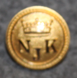 Nyländska Jaktklubben, NJK, yacht club, gilt, 15mm
