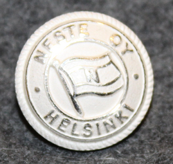 Neste Oy, shipping and oil company, silver-white, 17mm