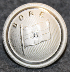Ångfartygs AB Bore, shipping company, silver-white, 23mm LAST IN STOCK