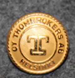 Oy Thombrokers Ab, shipping company, gilt, 15mm