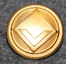 Viking Line, shipping company, gilt, 20mm