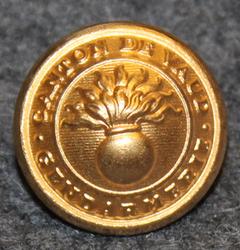 Canton de Vaud Gendarmerie, 17mm, gilt