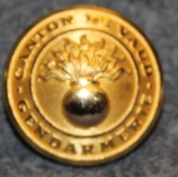 Canton de Vaud Gendarmerie, 23mm, gilt