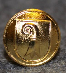 Basel-Landschaft, Swiss canton, 12mm, gilt, cap button