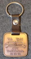 T.h Fjeld AUT Trafikkskole, driving school, keychain / fob