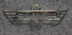 Luftforsvaret flylegeving, Norwegian air force branch badge, doctor