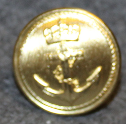Sjøforsvaret, Royal Norwegian Navy, 23mm, Gilt, cap button