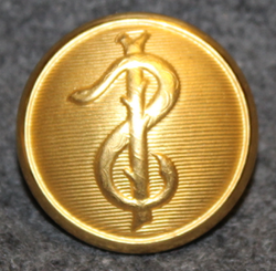 Hærens sanitet, Army sanitary corps, 23mm, Gilt