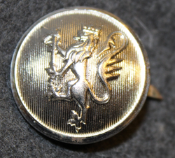 Norwegian lion, 23mm , nickel, cap button LAST IN STOCK