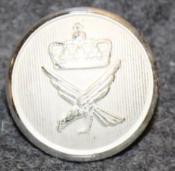 Norjan ilmavoimat, 17mm, hopean valkea, leveä kruunu