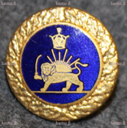 Iran / Persia army, 16mm, blue enamel /gilt