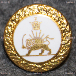 Iran / Persia army, 16mm, white enamel /gilt