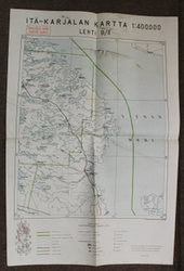 Finnish WW2 map, East Karelia page B/II