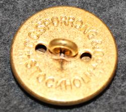 Fortifikationskåren / Ingenjörtrupperna, swedish military, 23mm, gilt