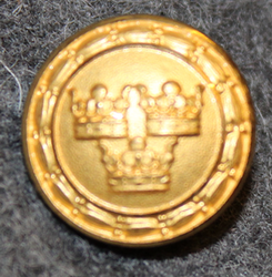 Unidentified, swedish military, 15mm, gilt