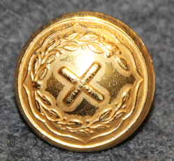 Generalstabskåren, swedish military, 14mm, gilt