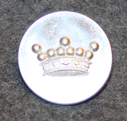 Friherrlig krona, swedish heraldry, 26mm, silver