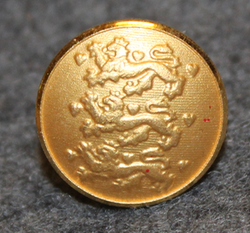 Danmarks rigsvåben, danish coat of arms, 15mm, cap button