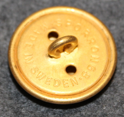 Danmarks rigsvåben, danish coat of arms, 23mm, gilt