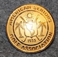 American seniors golf association. ASGA, 23mm, gilt
