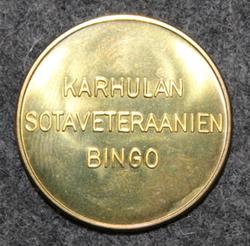 Karhulan sotaveteraanien bingo 25x1,5mm