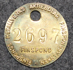Finspong Metalverk, 24mm, brass, numbered LAST IN STOCK