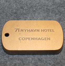 71 Nyhavn Hotell, Copenhagen, keychain / fob