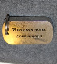 71 Nyhavn Hotell, Copenhagen, keychain / fob, Nickel-black