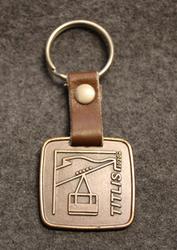 Titlis 3020m, keychain / fob, bronze