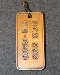 BOX 292 CH-3800, avaimenperä