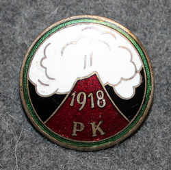 PK 1918, Finnish red guard membership pin.