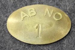 Nyköpings Omnibustrafik Ab, AB NO 1, punched number