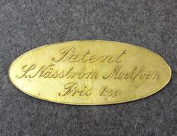 Patent S Näsström Moelfven, Pris 1:50