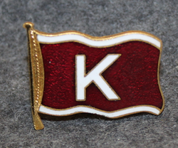 Skibs-A/S Karlander, shipping company, cap badge LAST IN STOCK