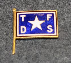 Troms Fylkes Dampskibsselskap ASA (TFDS ASA), laivayhtiö, lakkimerkki