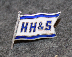 H. Heitmann & Son AS, shipping company, cap badge LAST IN STOCK