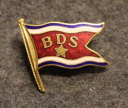 Bergenske Dampskibsselskab BDS, shipping company, cap  badge, LAST IN STOCK