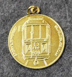 SHS sporvejshistorisk selskab, pendant, gilt