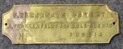 F. Reddaways patent, A fraknkenfeldt & Co Sole-agents, russia.