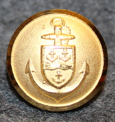 Gävle Hamnstyrelse. Harbour authority. 13,5mm gilt