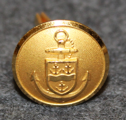 Gävle Hamnstyrelse. Harbour authority. 13,5mm gilt, cap button
