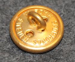 Taksin kuljettajan nappi, ruotsalainen. 14mm, kullattu