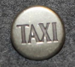 Taksin kuljettajan nappi, ruotsalainen. 14mm, tumma teksti