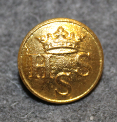 Helsingfors Segelsällskap, Helsinki yacht club, gilt, 15mm, shiny